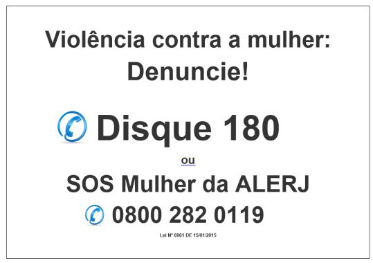 Cartaz Violência contra a mulher